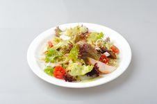 Chiken Fresh Salad Stock Photos