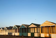 Free Beach Huts In Golden Sunlight Royalty Free Stock Photos - 22446738
