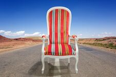 Free Armchair On The Road Stock Photography - 22447172