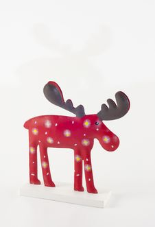 Free Christmas Reindeer Royalty Free Stock Photos - 22447498