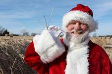 Free Hayseed Santa Royalty Free Stock Images - 22448439