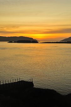 Corryvreckan Narrows Sunset, Scotland Royalty Free Stock Image