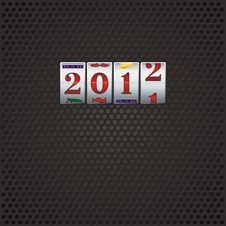 Free New Year In Slot Machine Stock Image - 22449131