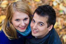 Free Romantic Couple In A Park Stock Photography - 22449422