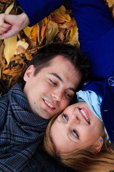 Autumn Couple Royalty Free Stock Photo