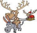 Free Santa Claus S Reindeer Royalty Free Stock Image - 22455236