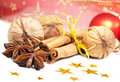 Free Cinnamon, Anise And  Walnuts Royalty Free Stock Photography - 22455257