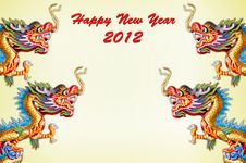 Dragon New Year Card Royalty Free Stock Image