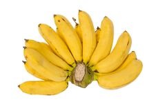 Free Bunch Of Bananas, Isolated Royalty Free Stock Images - 22451229