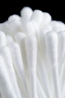 White Cotton Buds (Cotton Swabs Or Ear Buds) Stock Images