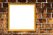 Free Picture Frame On Brick Wall Royalty Free Stock Photography - 22452337