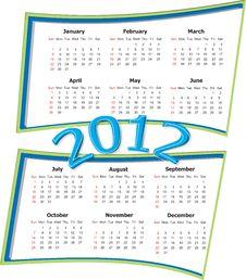 2012  Calendar Royalty Free Stock Photos