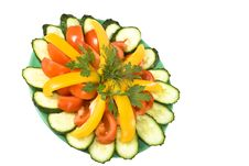 Free Plate Of Salad With Vegetables. Stock Photos - 22453503