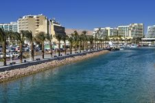 Free View On Marina And Promenade In Eilat, Israel Stock Photography - 22454572