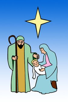 Nativity, Holy Family Royalty Free Stock Images