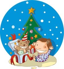 Free Xmas Gift Stock Photography - 22455262