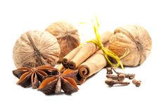 Free Cinnamon, Anise,  Walnuts And Cloves Stock Photo - 22455270