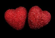 Free Hearts On Black Royalty Free Stock Image - 22455396