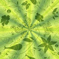 Free Seamless Green Pattern Royalty Free Stock Photo - 22455705