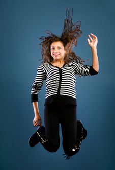 Free Young Beautiful Happy Woman Jumping Stock Photos - 22455943