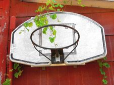 Free Old Basketball Hoop And Backboard Stock Photos - 22456263