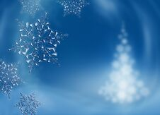 Free Christmas Background With Snowflakes Stock Images - 22457934