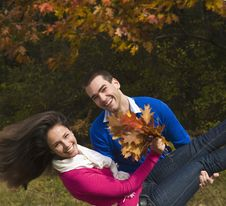 Free Autumn Enjoyment Royalty Free Stock Image - 22459716