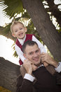 Free Handsome Father And Son In The Park Royalty Free Stock Photos - 22461588