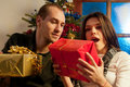Free Young Couple Enjoying Gifts Stock Image - 22465011