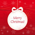 Free Hanging Ball Christmas Card Stock Photography - 22469812