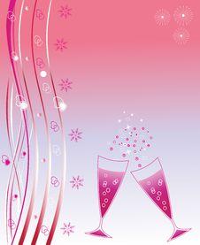 Holiday Wineglasses Royalty Free Stock Image