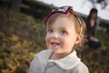 Free Adorable Baby Girl Playing In Park With Mom Royalty Free Stock Photography - 22461527