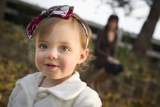 Free Adorable Baby Girl Playing In Park With Mom Royalty Free Stock Photo - 22461535