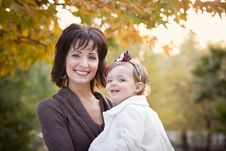 Free Attractive Mother And Daughter Portrait Outside Royalty Free Stock Photography - 22461567