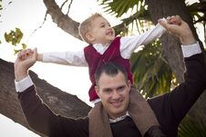 Free Handsome Father And Son In The Park Royalty Free Stock Photo - 22461625