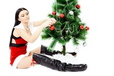 Free Beautiful Woman Near A Christmas Tree Stock Image - 22461791