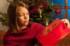 Free Teenager  Studying Christmas Gift Royalty Free Stock Image - 22465086