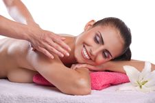 Free Brunette Spa Woman Stock Photography - 22466472