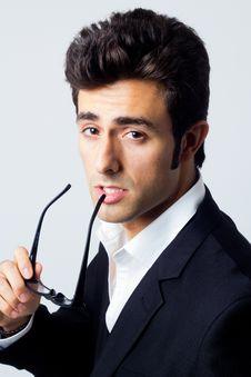 Portrait Of Attractive Businessman Stock Images