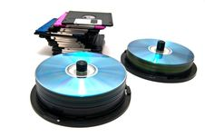 Free Floppy Disks And Cd Royalty Free Stock Photo - 22467075