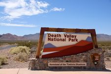 Death Valley National Park Sign, Nevada, USA Stock Images