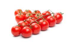 Free Wet Cherry Tomatoes On White Stock Photo - 22469000