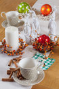 Free Christmas Table Set With Cup And Balls Stock Photo - 22472020