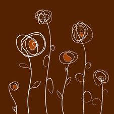 Free Retro Flower Background Royalty Free Stock Image - 22471916
