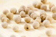 White Pepper Corns Stock Photos