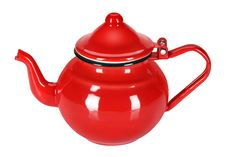 Free Enamel Teapot Royalty Free Stock Image - 22472016