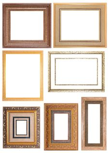 Free SET OF GOLD PICTURE FRAME Royalty Free Stock Image - 22472776
