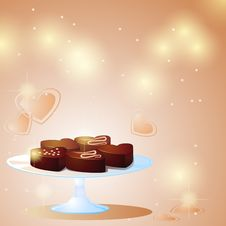 Sweet Chocolate Hearts Royalty Free Stock Photography