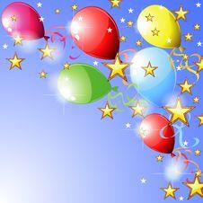 Balloons And Stars Stock Photos