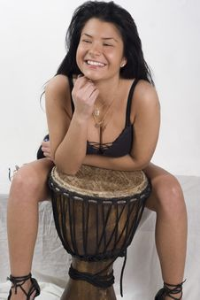 Djembe And Smile Stock Image